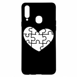 Чехол для Samsung A20s Heart and puzzle