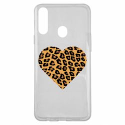 Чехол для Samsung A20s Heart with leopard hair