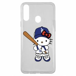 Чохол для Samsung A20s Hello Kitty baseball