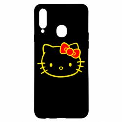Чехол для Samsung A20s Hello Kitty logo