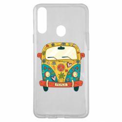 Чохол для Samsung A20s Hippie bus