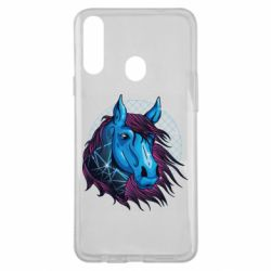 Чехол для Samsung A20s Horse and neon color