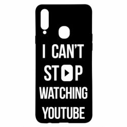 Чохол для Samsung A20s I can't stop watching youtube