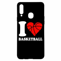 Чехол для Samsung A20s I love basketball