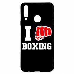 Чехол для Samsung A20s I love boxing