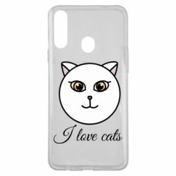 Чохол для Samsung A20s I love cats art