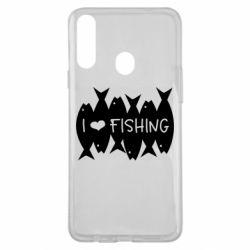 Чохол для Samsung A20s I Love Fishing