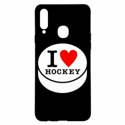 Чохол для Samsung A20s I love hockey