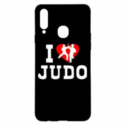 Чехол для Samsung A20s I love Judo