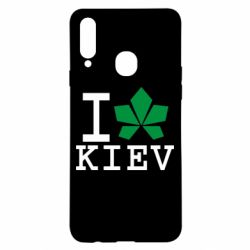 Чохол для Samsung A20s I love Kiev - з листком