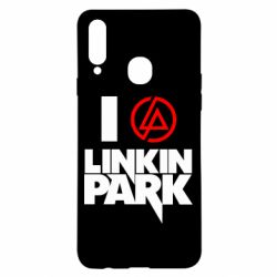 Чехол для Samsung A20s I love Linkin Park