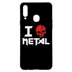 Чехол для Samsung A20s I love metal