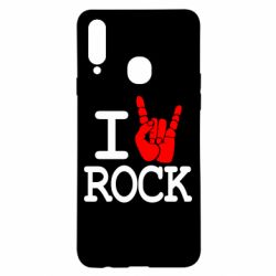 Чехол для Samsung A20s I love rock