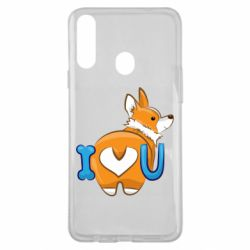 Чехол для Samsung A20s I love you corgi