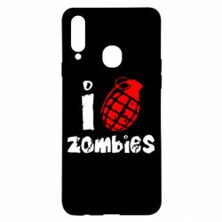 Чехол для Samsung A20s I love zombies