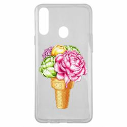 Чохол для Samsung A20s Ice cream flowers