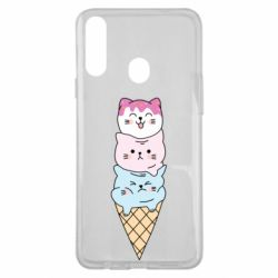 Чехол для Samsung A20s Ice cream kittens