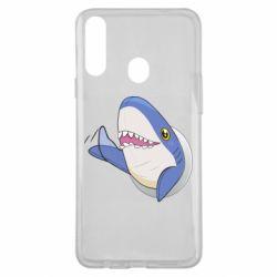 Чехол для Samsung A20s Ikea Shark Blahaj