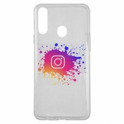 Чехол для Samsung A20s Instagram spray