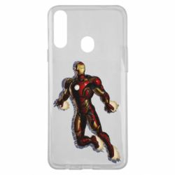 Чохол для Samsung A20s Iron man with the shadow of the lines