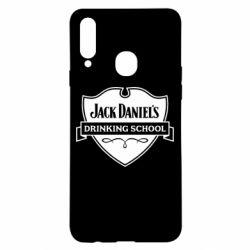 Чехол для Samsung A20s Jack Daniel's Drinkin School