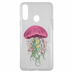 Чехол для Samsung A20s Jellyfish and flowers
