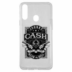 Чохол для Samsung A20s Johnny cash mean as hell