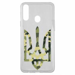 Чехол для Samsung A20s Камуфляжный герб Украины