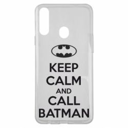 Чехол для Samsung A20s KEEP CALM and CALL BATMAN