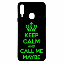 Чехол для Samsung A20s KEEP CALM and CALL ME MAYBE