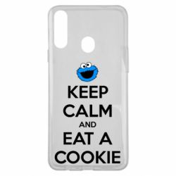 Чехол для Samsung A20s Keep Calm and Eat a cookie