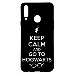 Чехол для Samsung A20s KEEP CALM and GO TO HOGWARTS