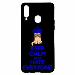 Чехол для Samsung A20s KEEP CALM and HATE EVERYONE