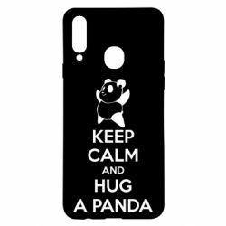 Чохол для Samsung A20s KEEP CALM and HUG A PANDA