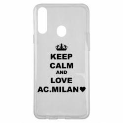 Чохол для Samsung A20s Keep calm and love AC Milan