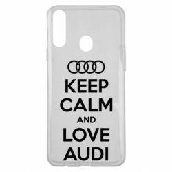 Чехол для Samsung A20s Keep Calm and Love Audi