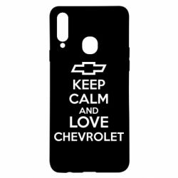 Чохол для Samsung A20s KEEP CALM AND LOVE CHEVROLET