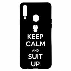 Чехол для Samsung A20s Keep Calm and suit up!
