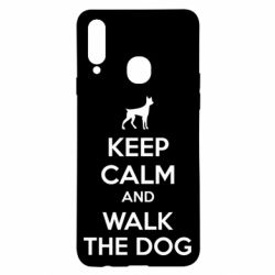 Чохол для Samsung A20s KEEP CALM and WALK THE DOG