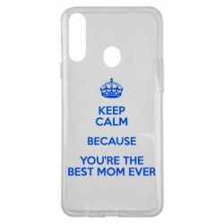Чехол для Samsung A20s KEEP CALM because you're the best mom ever