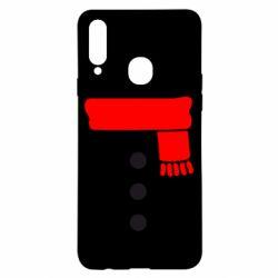 Чохол для Samsung A20s Костюм сніговика