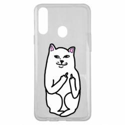 Чехол для Samsung A20s Кот с факом