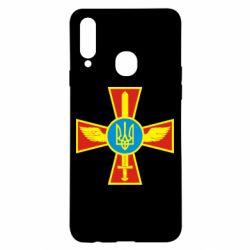 Чохол для Samsung A20s Хрест з мечем та гербом