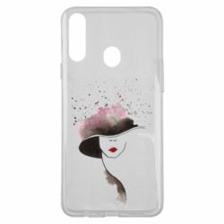 Чехол для Samsung A20s Lady in a hat