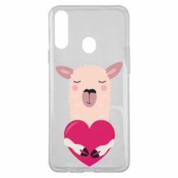 Чохол для Samsung A20s Lama with heart