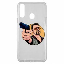 Чохол для Samsung A20s Лебовськи з пістолетом