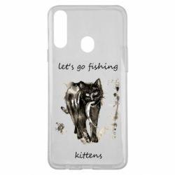 Чехол для Samsung A20s Let's go fishing  kittens