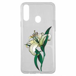 Чохол для Samsung A20s Lily flower