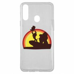 Чехол для Samsung A20s Lion king silhouette