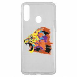 Чехол для Samsung A20s Lion multicolor